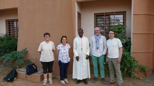 Avec Monseigneur Modeste Kambou, Évêque de Gaoua